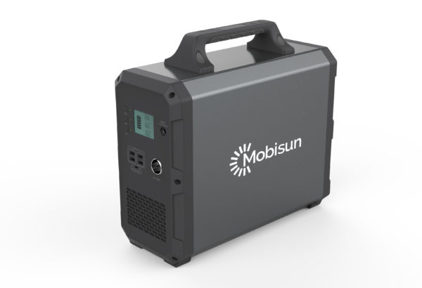 Mobisun Portable Solar Generator 1000W 1500Wh 230V output power camping outdoor side