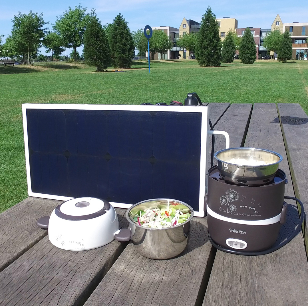 Portable Solar Panel With Battery And 230v Outlet 250w
