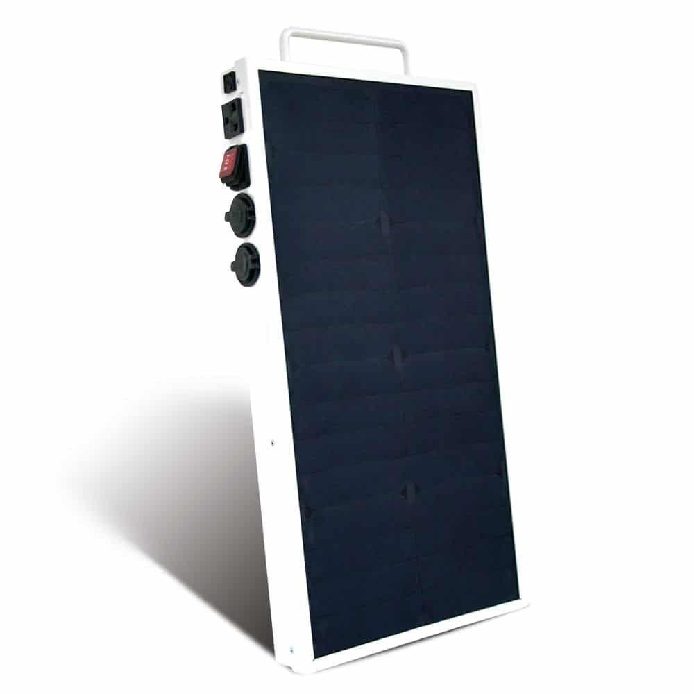 Portable Solar Panel With Battery And 230v Outlet 250w 256wh