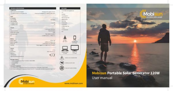 Manual Mobisun Portable Solar Generator