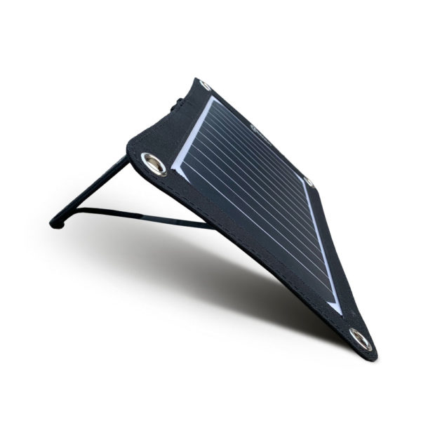 Mobisun lightweight 7,5W portable USB solar panel with stand side