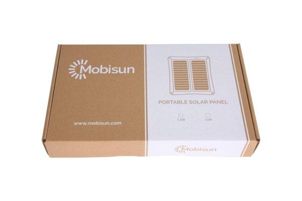 Mobisun USB zonnepaneel verpakking front packaging
