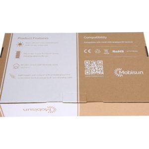 Mobisun USB zonnepaneel verpakking achterkant back