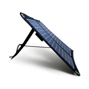 Mobisun lightweight 15W portable USB solar panel front side