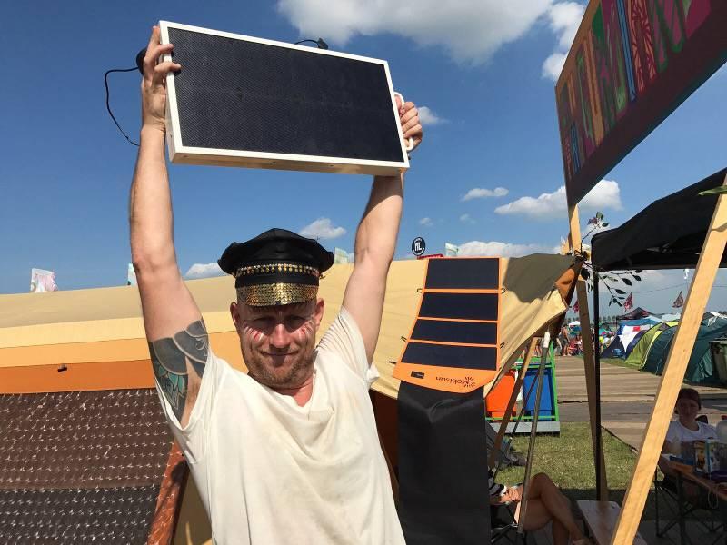 poratble solar generator Mysteryland stroom