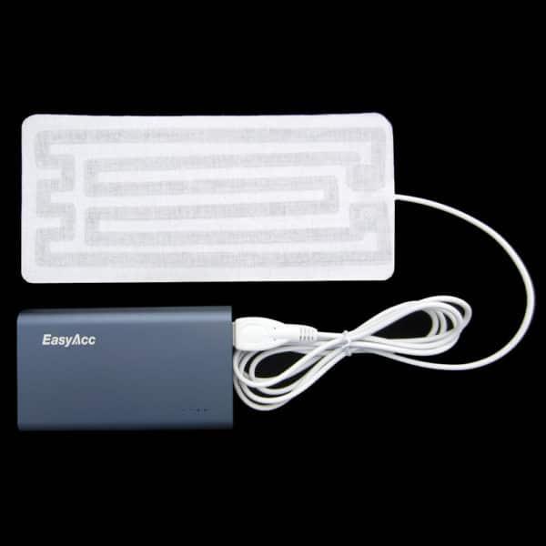 usb warmtepad verwarming stralingswarmte USB powerbank radiant zonne energie hitte