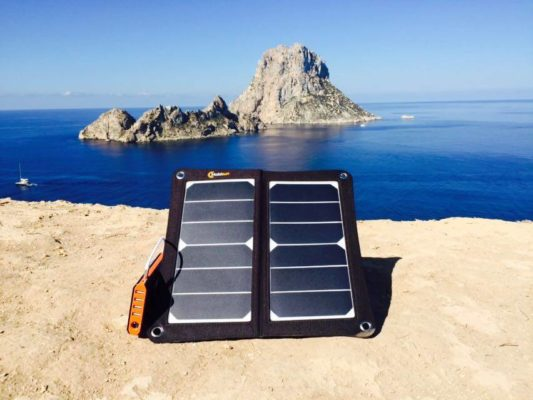 Mobisun portable solar panel USB Ibiza