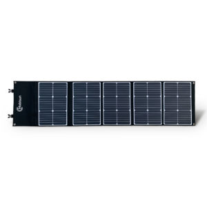 100W Mobisun portable solar panel folded out