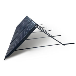 100W Mobisun portable solar panel folded out side angle