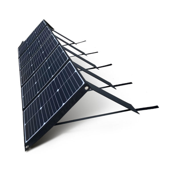 100W Mobisun portable solar panel folded out side angle sharp