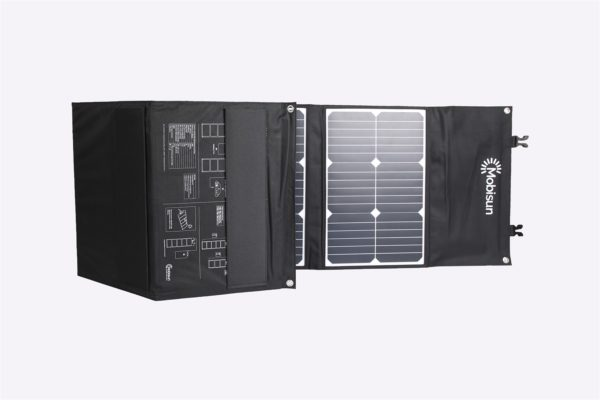 100W Mobisun portable solar panel front and back