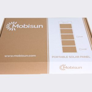 60W Mobisun portable solar panel box front
