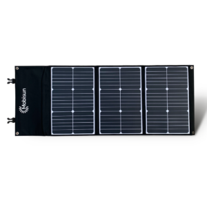 60W Mobisun portable solar panel front folded out 2