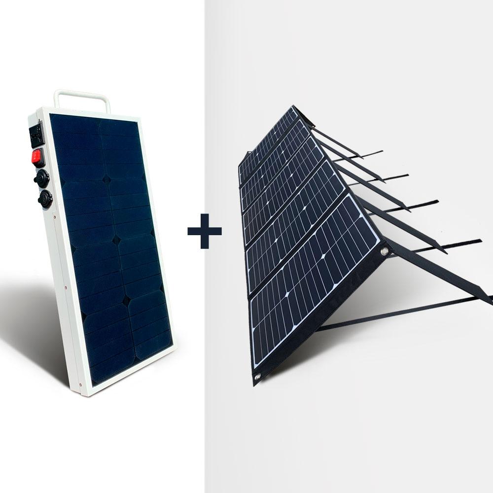 Mobisun Pro Power Station 100w Foldable Solar Panel Bundle Mobisun International